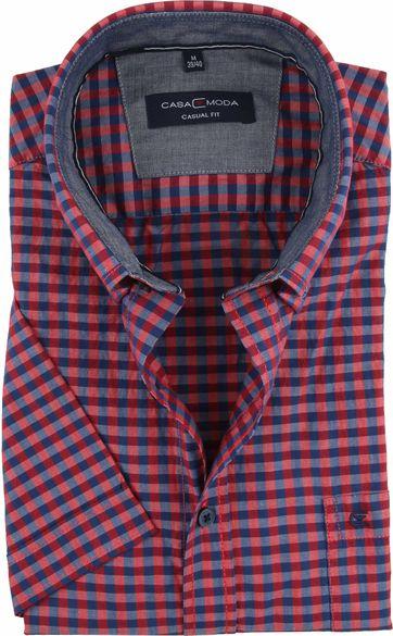 Casa Moda Casual Shirt Check Navy Red
