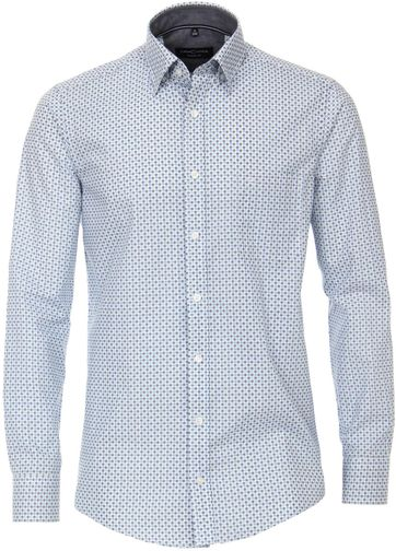 Casa Moda Casual Shirt Dots Blue