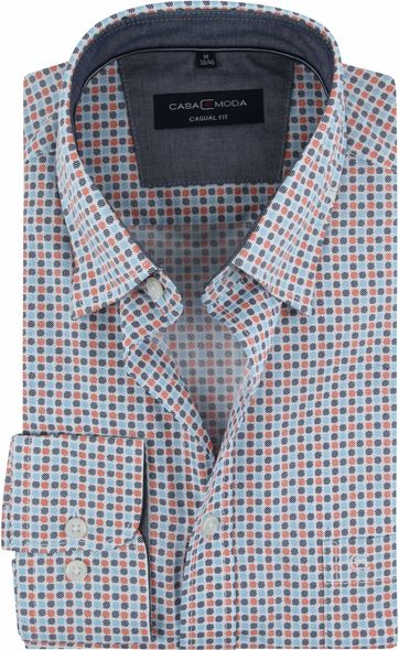 Casa Moda Casual Shirt Dots Orange