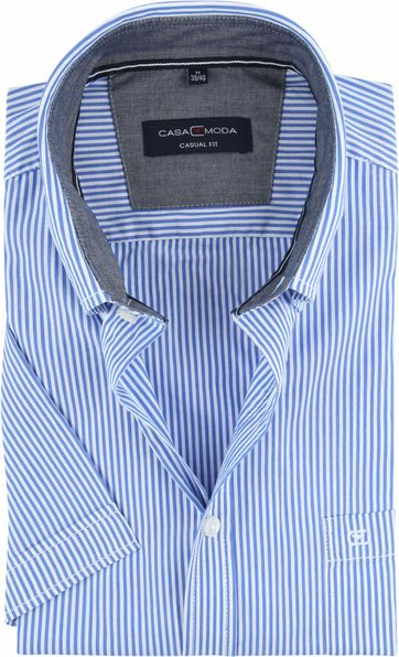 Casa Moda Freizeithemd Streifen Blau Weiß