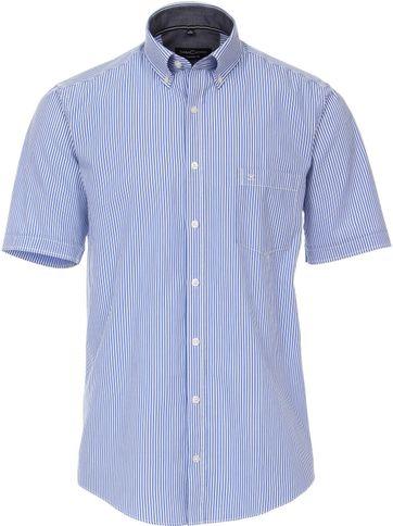 Casa Moda Overhemd Strepen Blauw Wit