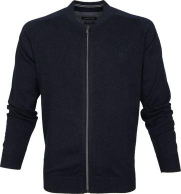 Casa Moda Pullover Zip Navy