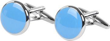 Cufflinks Round Blue NR92