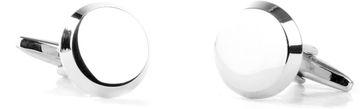 Cufflinks Silver Round