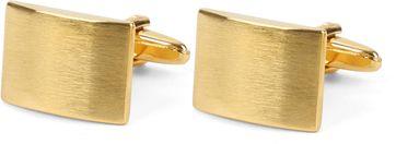 Cufflinks Square Rectangle Mat Gold