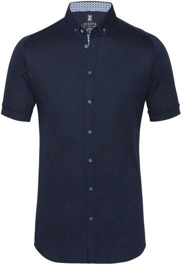 Desoto Overhemd Korte Mouw Donkerblauw 512