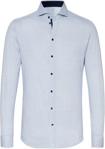 Desoto Overhemd New Hai Blauw Wit
