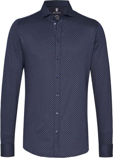Desoto Overhemd New Hai Navy Wit