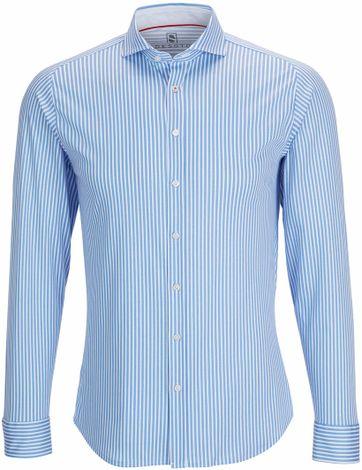 Desoto Overhemd Strijkvrij Blauw Streep