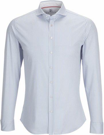 Desoto Overhemd Strijkvrij Lichtblauw Streep
