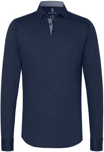Desoto Poloshirt New Hai Non-Iron Dark Blue