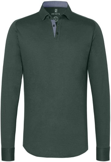 Desoto Poloshirt New Hai Non-Iron Dark Green