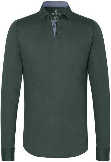 Desoto Poloshirt New Hai Non-Iron Dunkelgrün