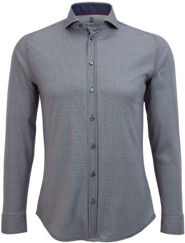Desoto Shirt Non Iron Navy Print