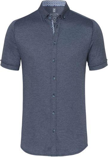 Desoto Shirt Short Sleeve Dark Blue 501