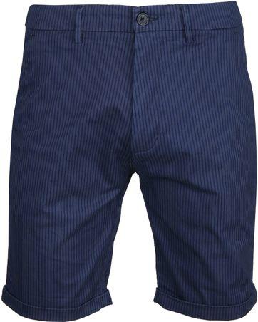 Dstrezzed Fine Marine Short Stripe Navy