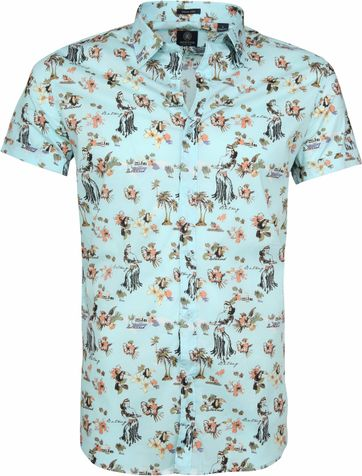 Dstrezzed Hawaii Shirt SS Lagoon