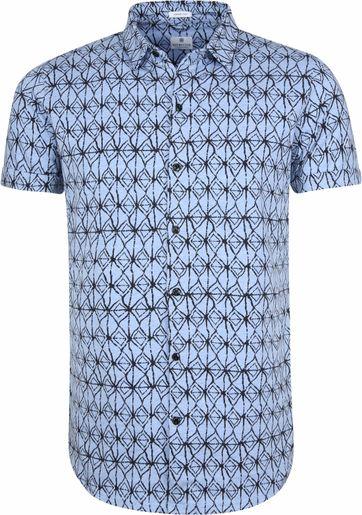 Dstrezzed Hemd Blau Drucken