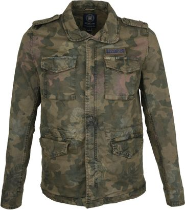 Dstrezzed Jacket Army Print