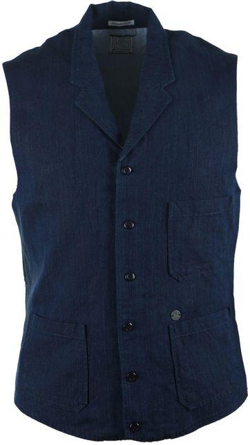 Dstrezzed Navy Waistcoat