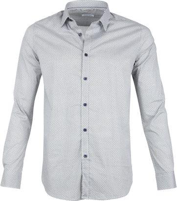 Dstrezzed Overhemd Dessin Wit