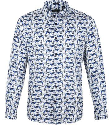 Dstrezzed Overhemd Vogels Wit