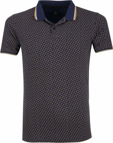 Dstrezzed Poloshirt Dunkelblau Muster