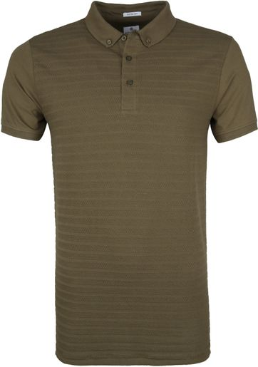 Dstrezzed Poloshirt Honeycomb Stretch Army
