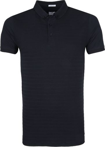 Dstrezzed Poloshirt Honeycomb Stretch Navy