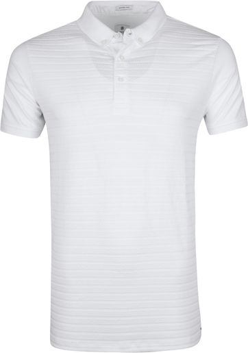 Dstrezzed Poloshirt Honeycomb Stretch White