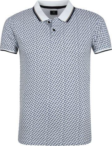 Dstrezzed Poloshirt Weiß Muster