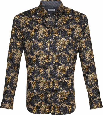 Dstrezzed Shirt Blumen Gelb