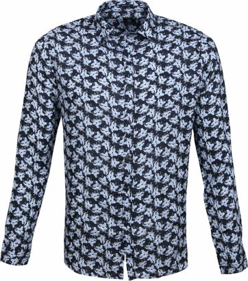 Dstrezzed Shirt Flowers Navy