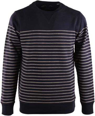 Dstrezzed Sweater Dunkelblau Streifen