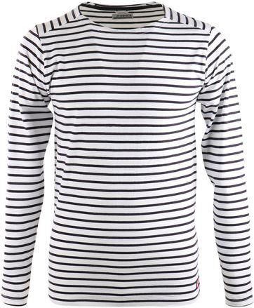Dstrezzed T-shirt mit langen Ärmel Weiß Streifen