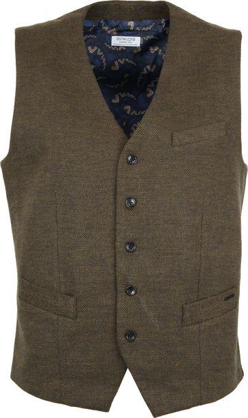 Dstrezzed Waistcoat Herringbone Dark Green