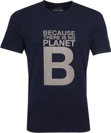 Ecoalf Natal T-Shirt Great B Dunkelblau