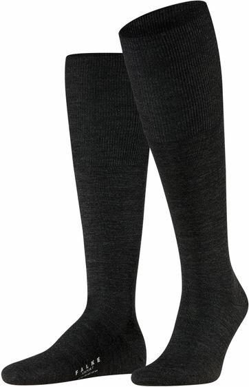 Falke Airport Knee Socks Dark Grey 3080