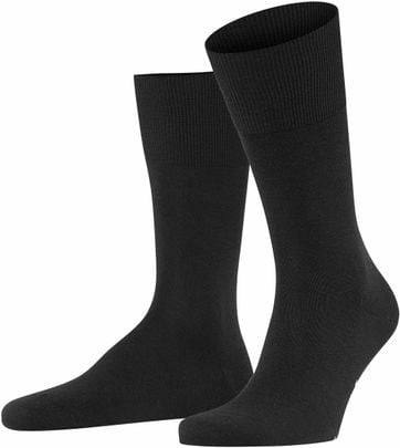 Falke Airport Socks Black 3000