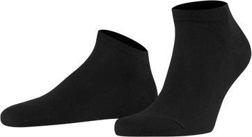 FALKE Family Sneaker Socken Schwarz 3000