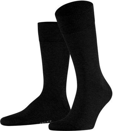 Falke Happy Socks 2 Pair Black 3000