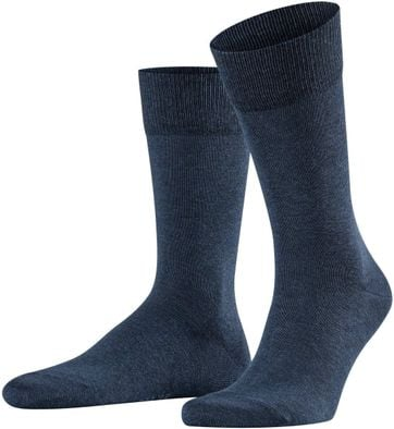 Falke Happy Socks 2 Pair Dark Blue Melange