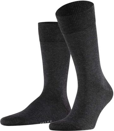 Falke Happy Socks 2 Pair Dark Grey Melange