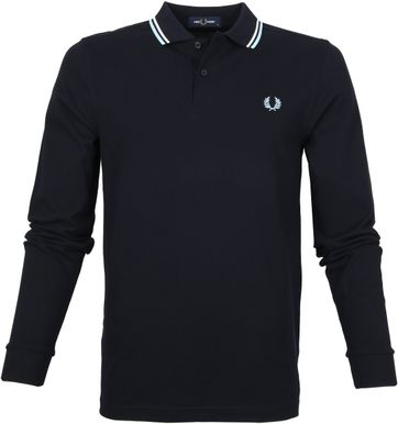 Fred Perry LS Poloshirt Navy