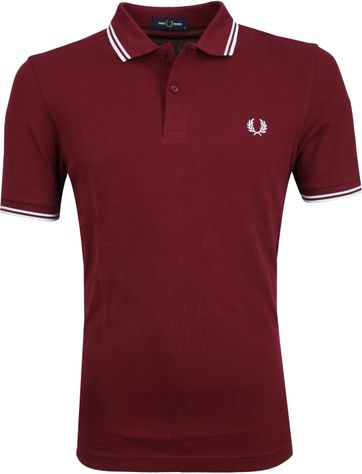 Fred Perry Polo Bordeaux Rood