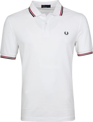 Fred Perry Polo Weiß 748