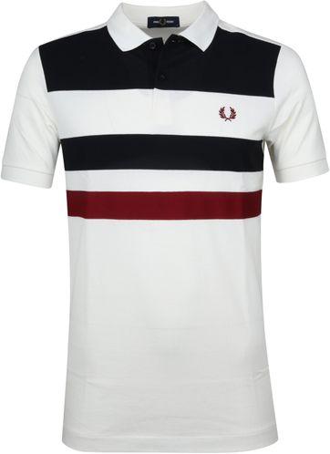 Fred Perry Poloshirt Streifen Weiß