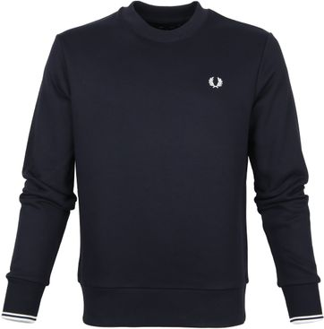 Fred Perry Sweater Logo Navy