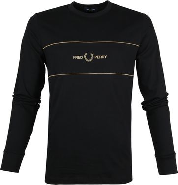 Fred Perry Sweater M9593 Zwart