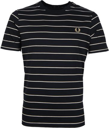 Fred Perry T-Shirt Dark Blue Stripes